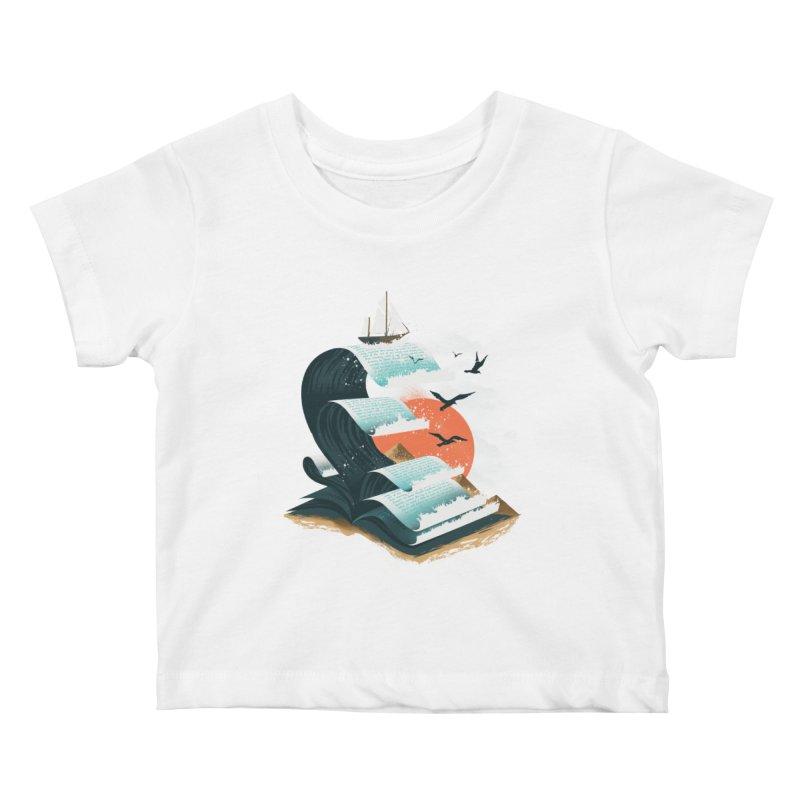 Waves of Knowledge Kids Baby T-Shirt by dandingeroz's Artist Shop