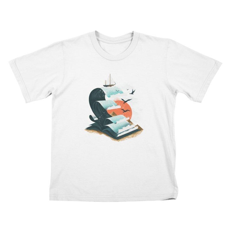 Waves of Knowledge Kids Toddler T-Shirt by dandingeroz's Artist Shop