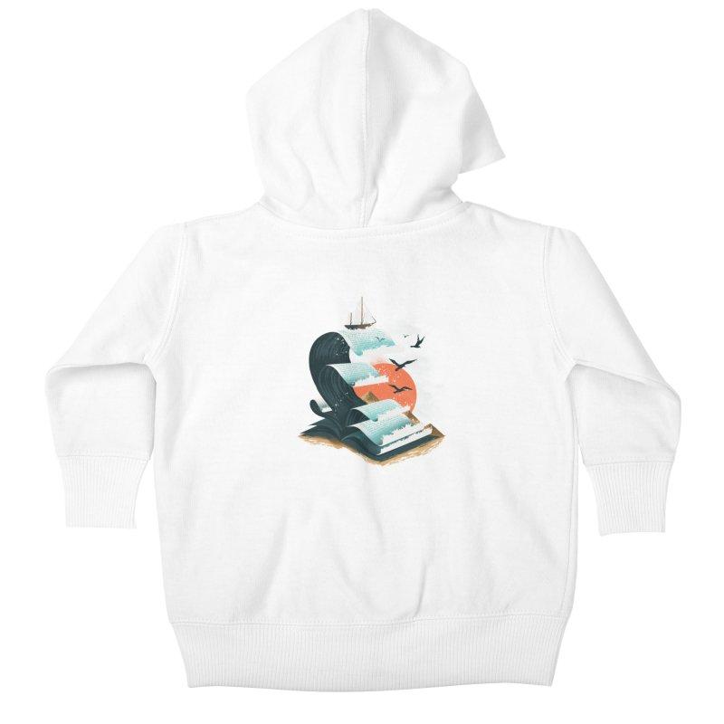 Waves of Knowledge Kids Baby Zip-Up Hoody by dandingeroz's Artist Shop