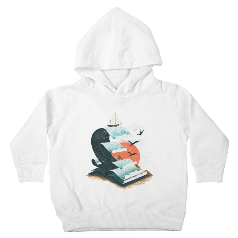 Waves of Knowledge Kids Toddler Pullover Hoody by dandingeroz's Artist Shop