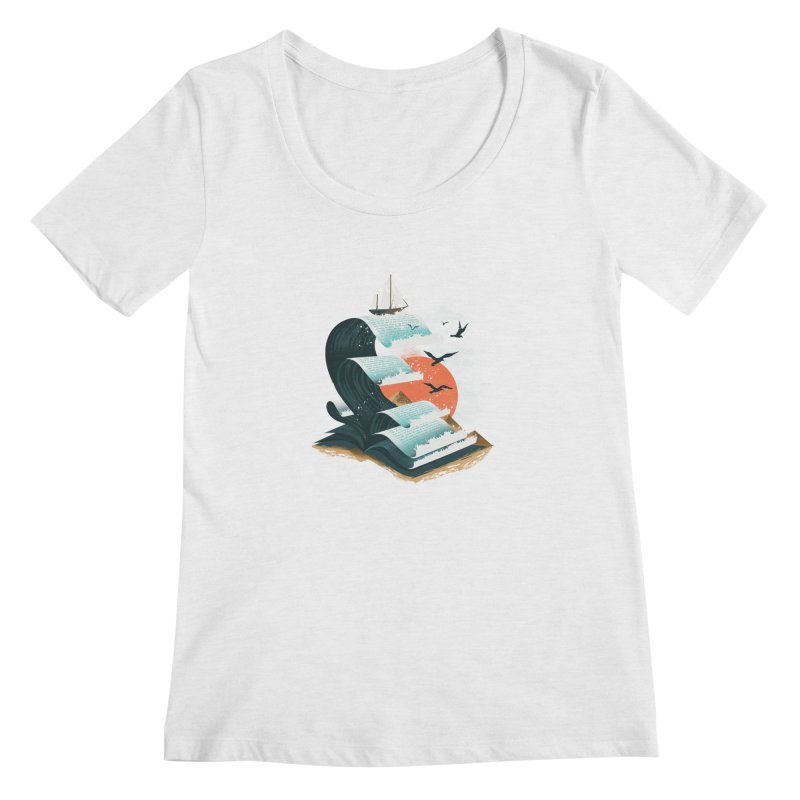Waves of Knowledge Women's Regular Scoop Neck by dandingeroz's Artist Shop