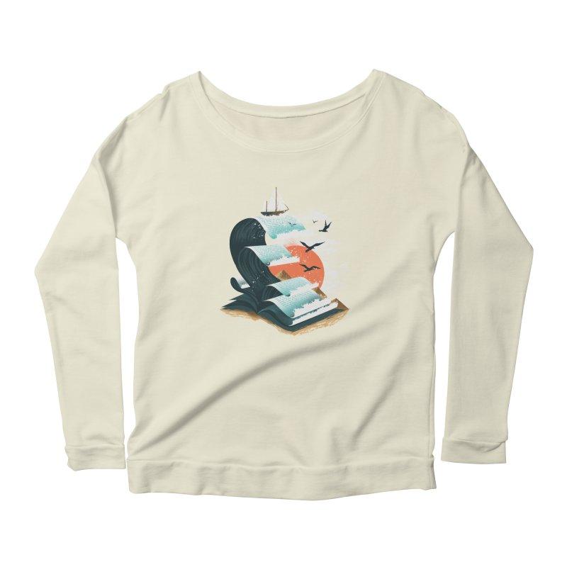 Waves of Knowledge Women's Scoop Neck Longsleeve T-Shirt by dandingeroz's Artist Shop