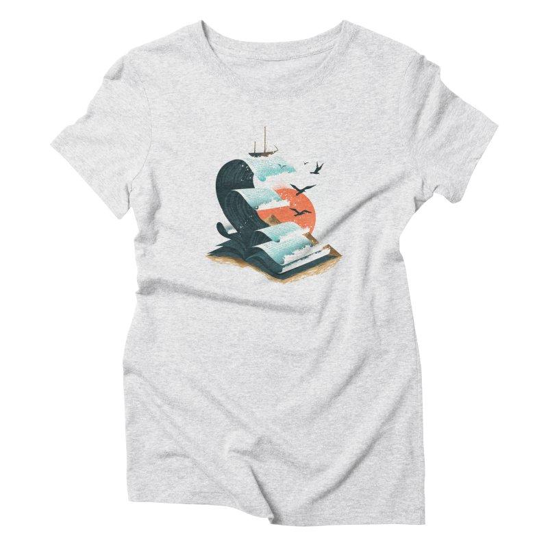 Waves of Knowledge Women's Triblend T-Shirt by dandingeroz's Artist Shop