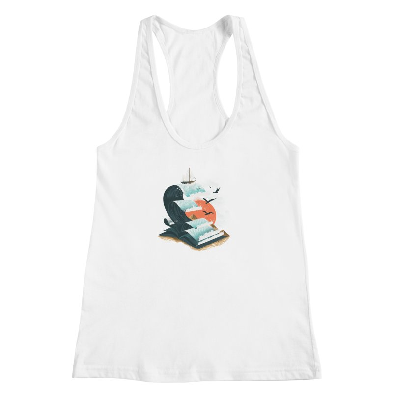 Waves of Knowledge Women's Racerback Tank by dandingeroz's Artist Shop