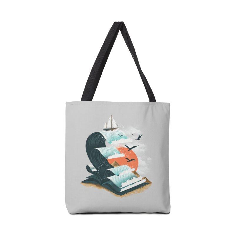 Waves of Knowledge Accessories Bag by dandingeroz's Artist Shop