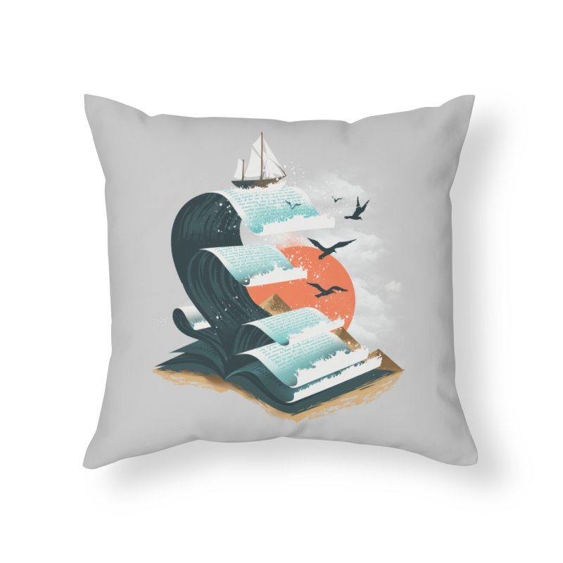 Waves of Knowledge Home Throw Pillow by dandingeroz's Artist Shop