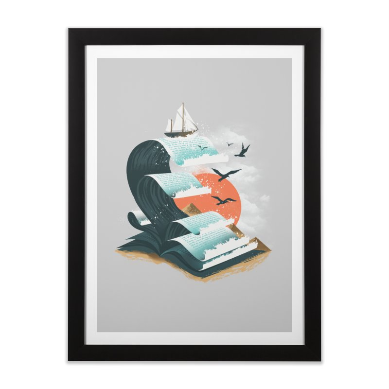 Waves of Knowledge Home Framed Fine Art Print by dandingeroz's Artist Shop