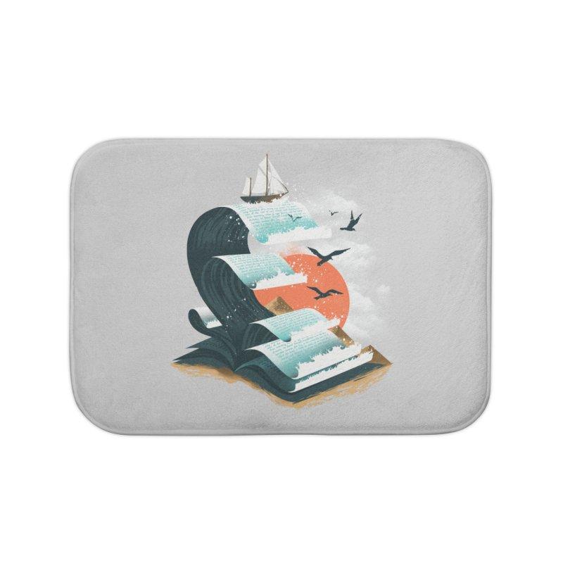 Waves of Knowledge Home Bath Mat by dandingeroz's Artist Shop