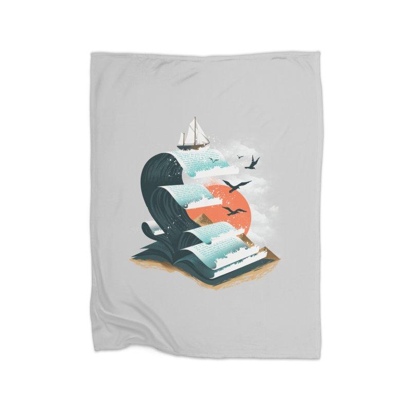 Waves of Knowledge Home Blanket by dandingeroz's Artist Shop