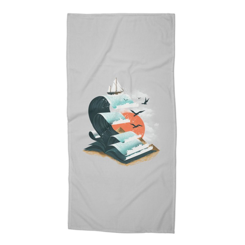 Waves of Knowledge Accessories Beach Towel by dandingeroz's Artist Shop