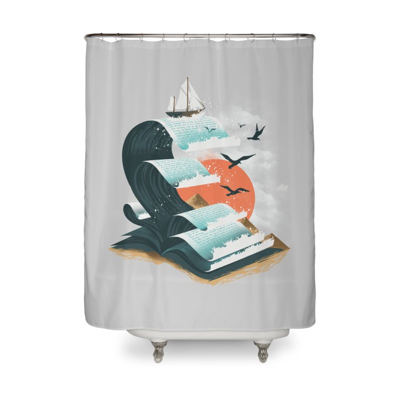 Waves of Knowledge Home Shower Curtain by dandingeroz's Artist Shop