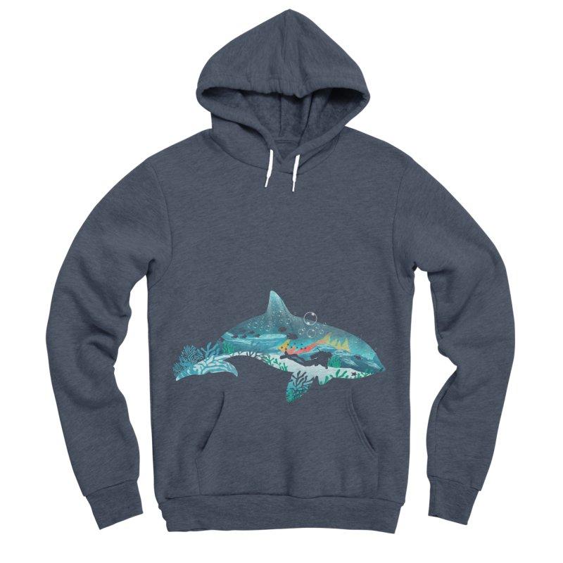Dolphin Diver Women's Sponge Fleece Pullover Hoody by dandingeroz's Artist Shop