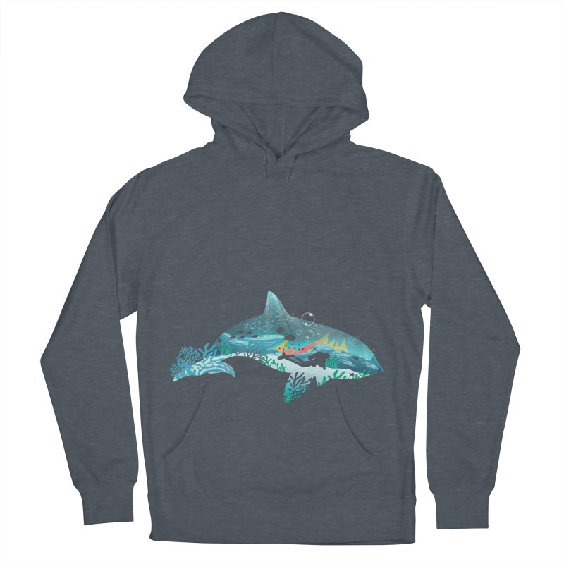 Dolphin Diver Women's French Terry Pullover Hoody by dandingeroz's Artist Shop