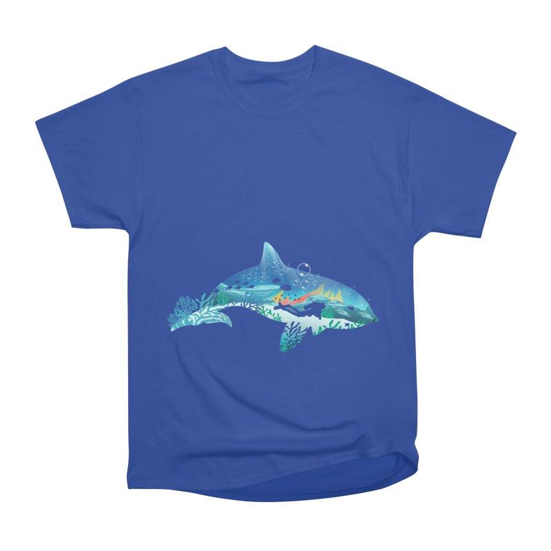 Dolphin Diver Women's Heavyweight Unisex T-Shirt by dandingeroz's Artist Shop