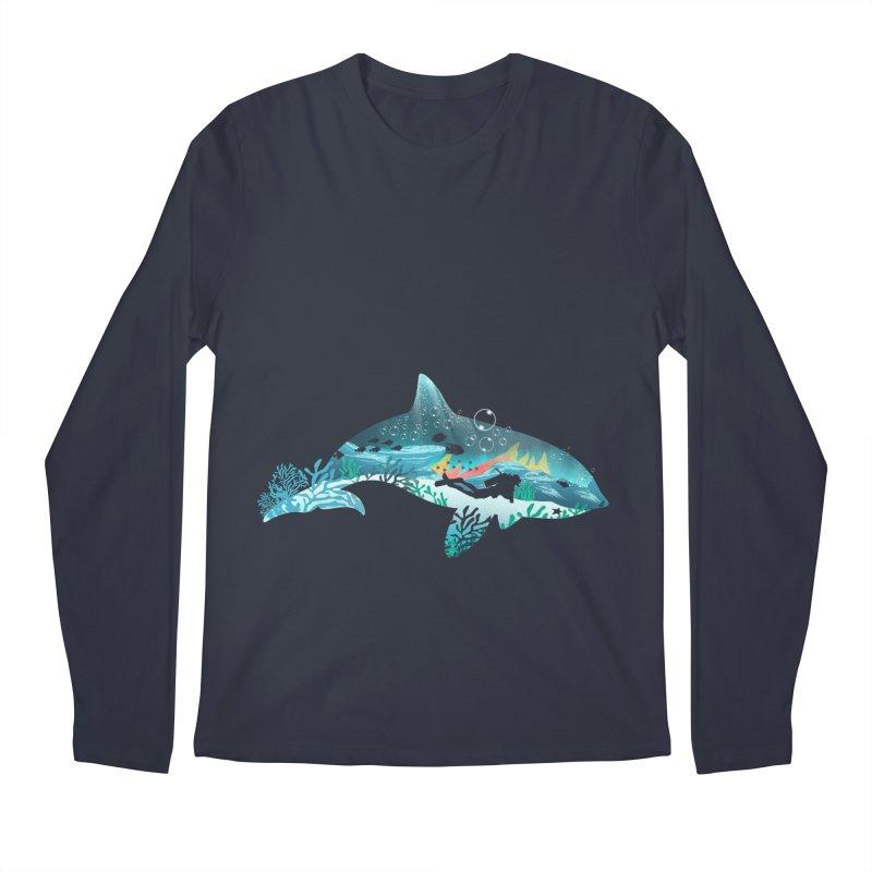 Dolphin Diver Men's Regular Longsleeve T-Shirt by dandingeroz's Artist Shop