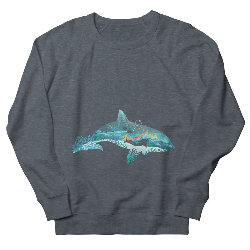 Dolphin Diver Women's French Terry Sweatshirt by dandingeroz's Artist Shop