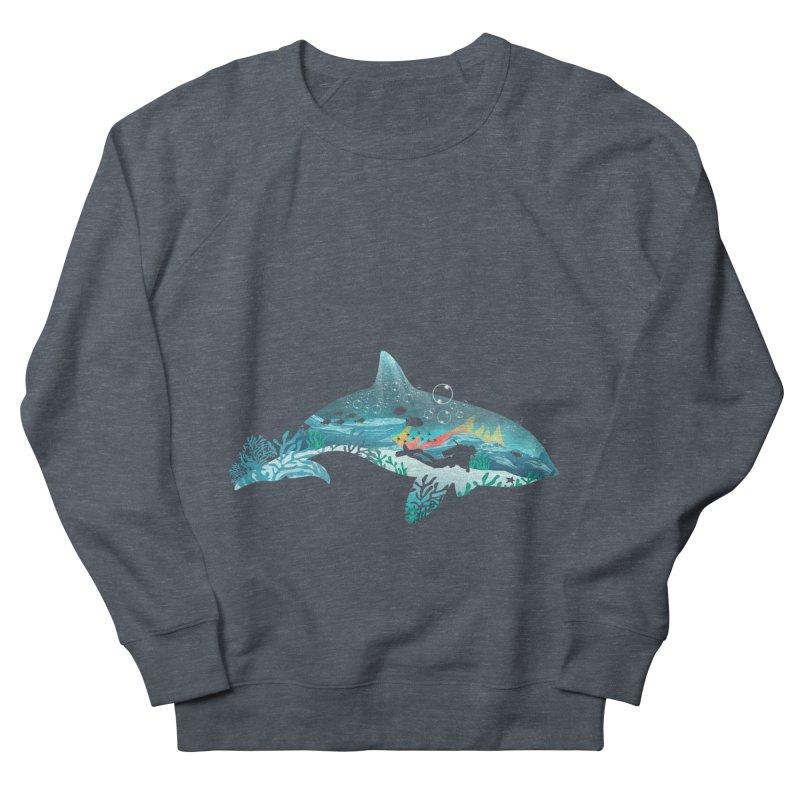 Dolphin Diver Men's French Terry Sweatshirt by dandingeroz's Artist Shop