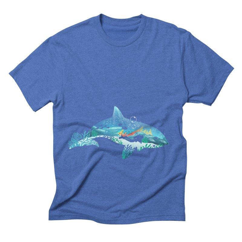 Dolphin Diver Men's Triblend T-Shirt by dandingeroz's Artist Shop