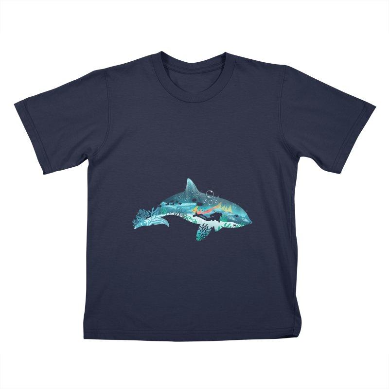 Dolphin Diver Kids Toddler T-Shirt by dandingeroz's Artist Shop