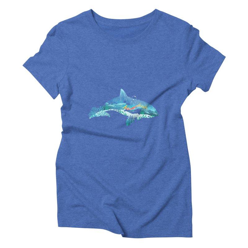 Dolphin Diver Women's Triblend T-Shirt by dandingeroz's Artist Shop
