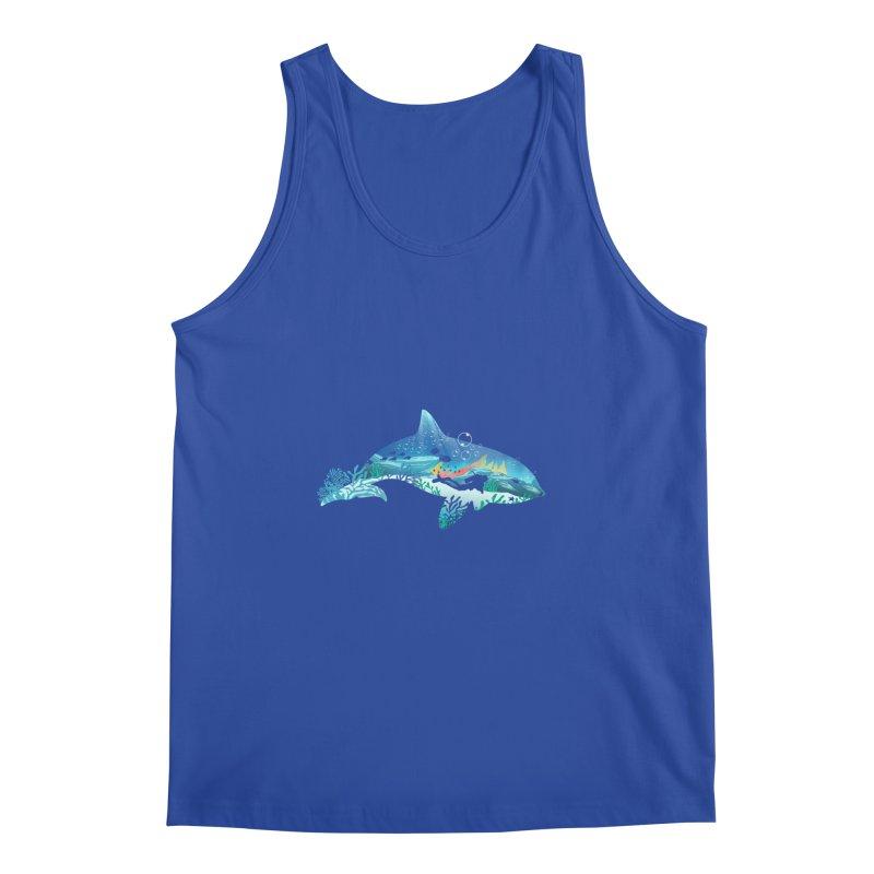 Dolphin Diver Men's Regular Tank by dandingeroz's Artist Shop
