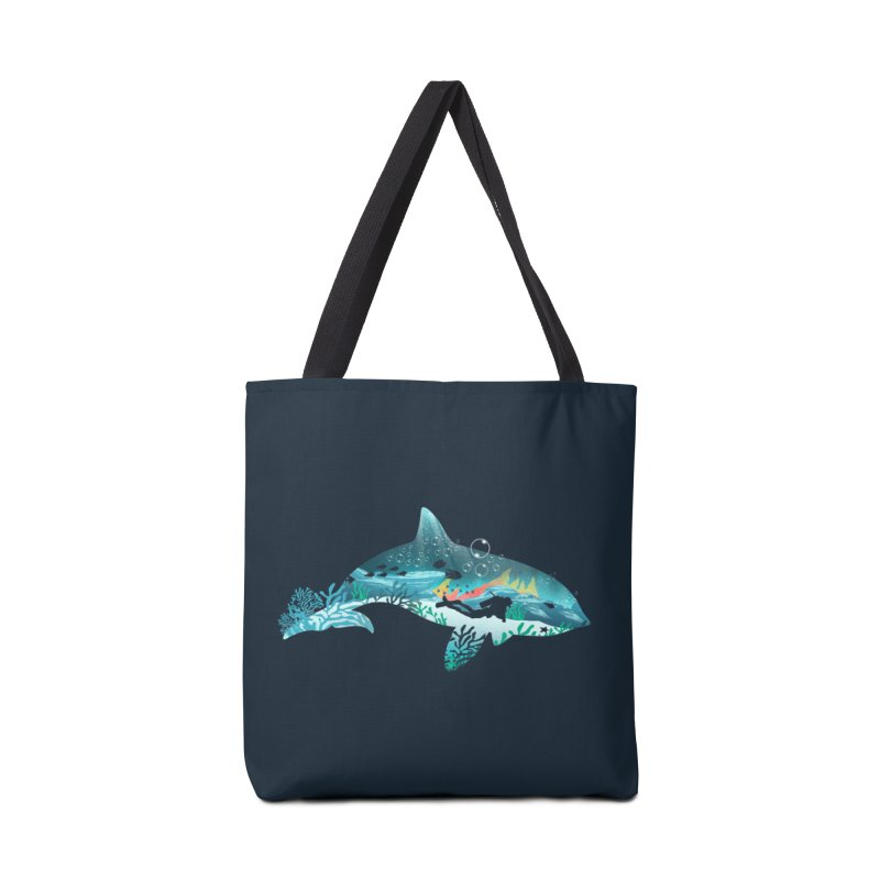 Dolphin Diver Accessories Bag by dandingeroz's Artist Shop