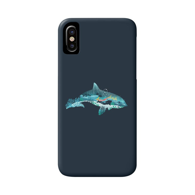 Dolphin Diver Accessories Phone Case by dandingeroz's Artist Shop