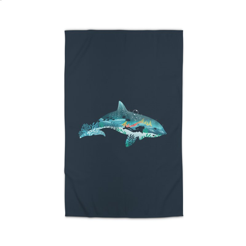 Dolphin Diver Home Rug by dandingeroz's Artist Shop