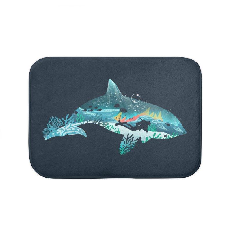 Dolphin Diver Home Bath Mat by dandingeroz's Artist Shop