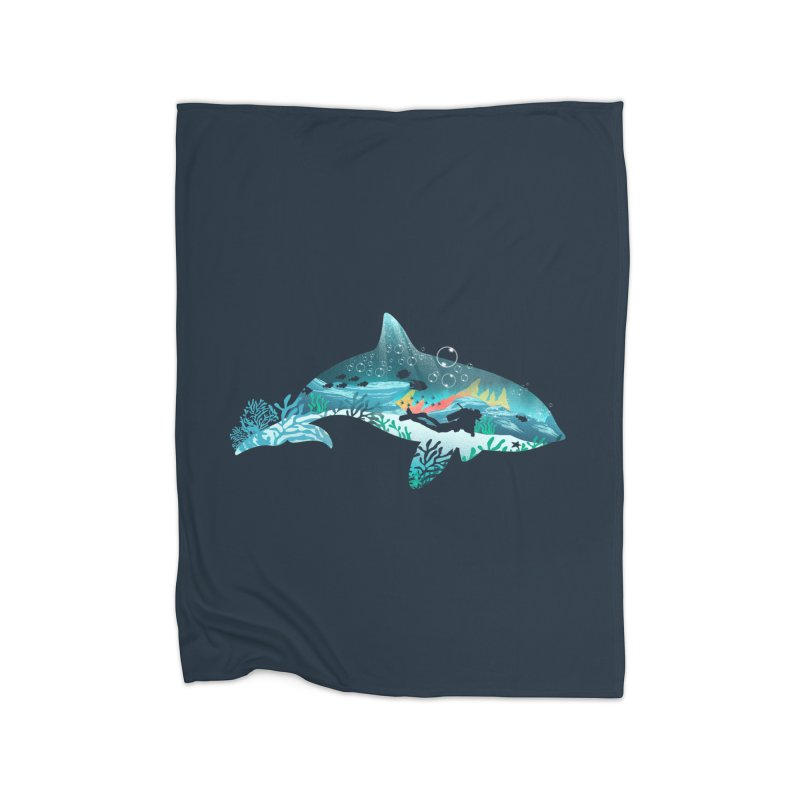 Dolphin Diver Home Blanket by dandingeroz's Artist Shop