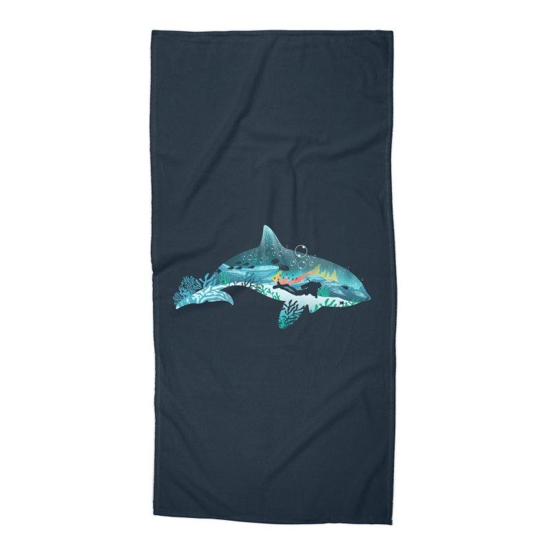 Dolphin Diver Accessories Beach Towel by dandingeroz's Artist Shop