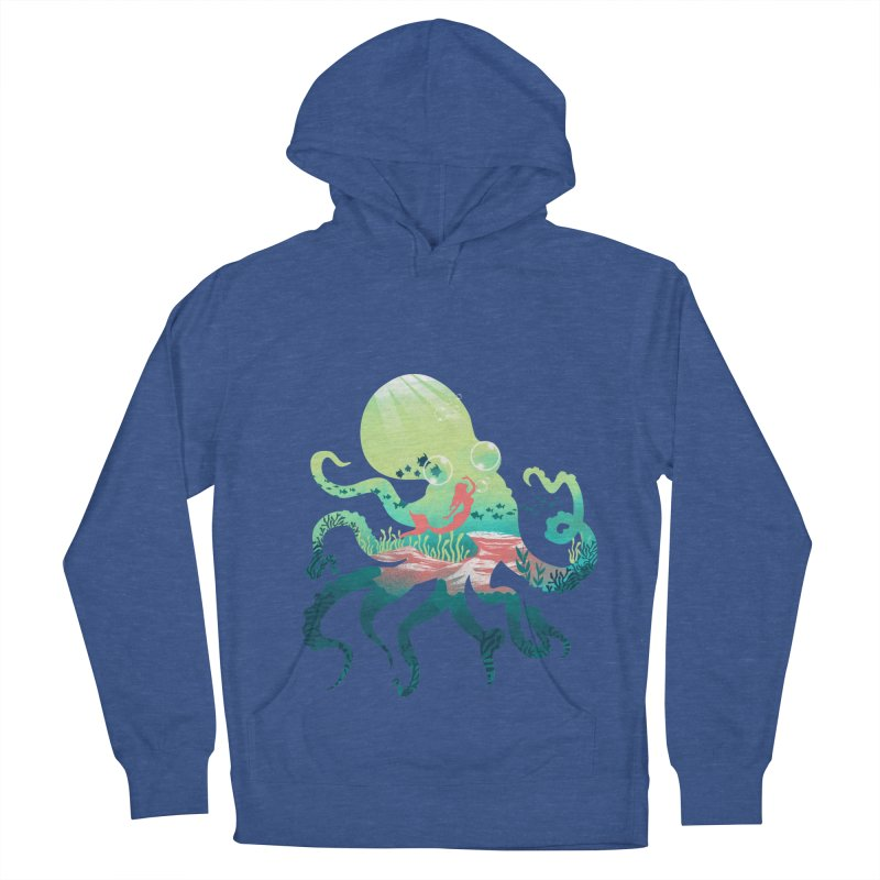 Wonder Sea Men's French Terry Pullover Hoody by dandingeroz's Artist Shop
