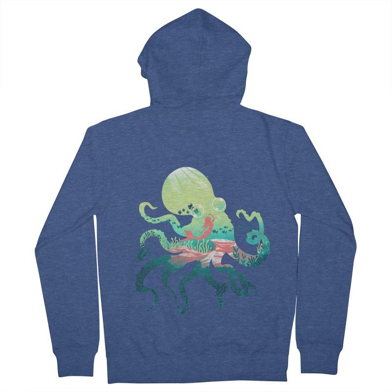 Wonder Sea Men's French Terry Zip-Up Hoody by dandingeroz's Artist Shop