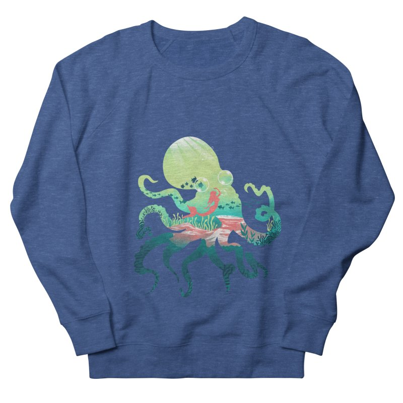 Wonder Sea Men's French Terry Sweatshirt by dandingeroz's Artist Shop