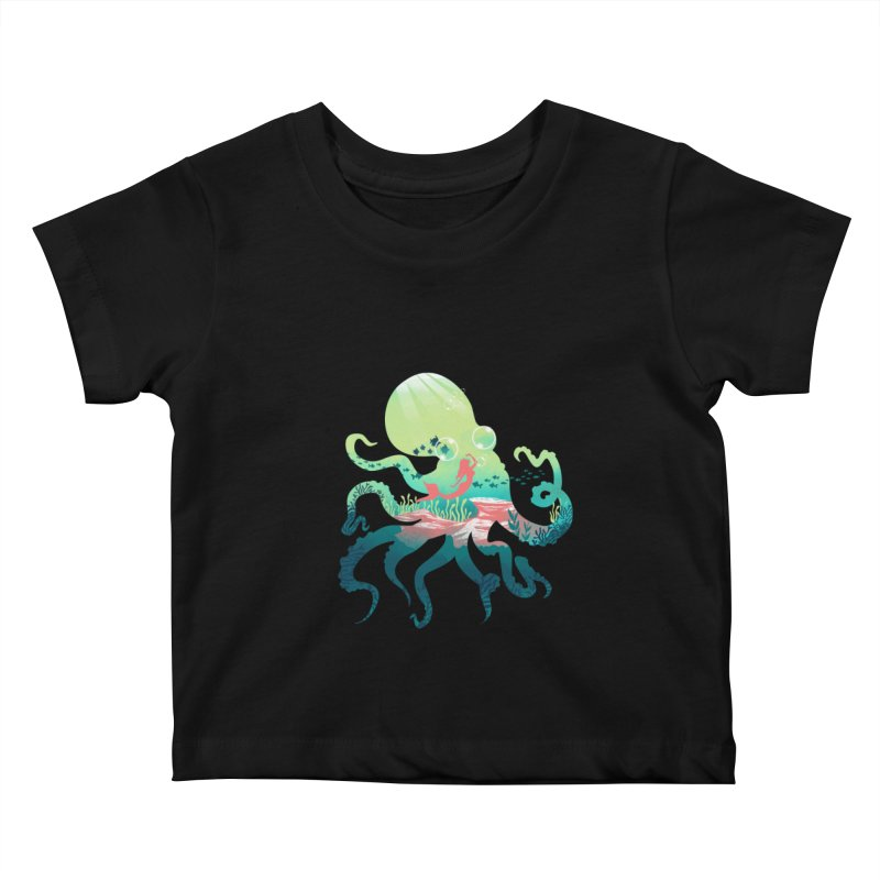 Wonder Sea Kids Baby T-Shirt by dandingeroz's Artist Shop