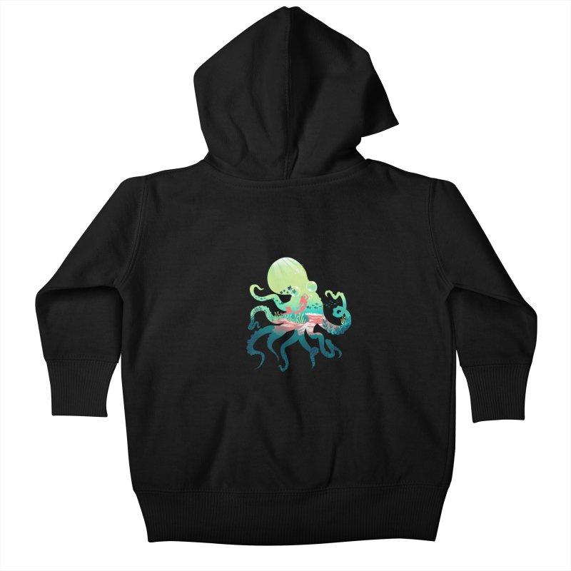 Wonder Sea Kids Baby Zip-Up Hoody by dandingeroz's Artist Shop