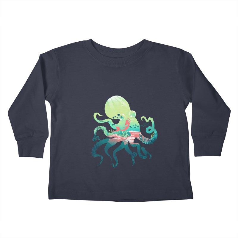 Wonder Sea Kids Toddler Longsleeve T-Shirt by dandingeroz's Artist Shop