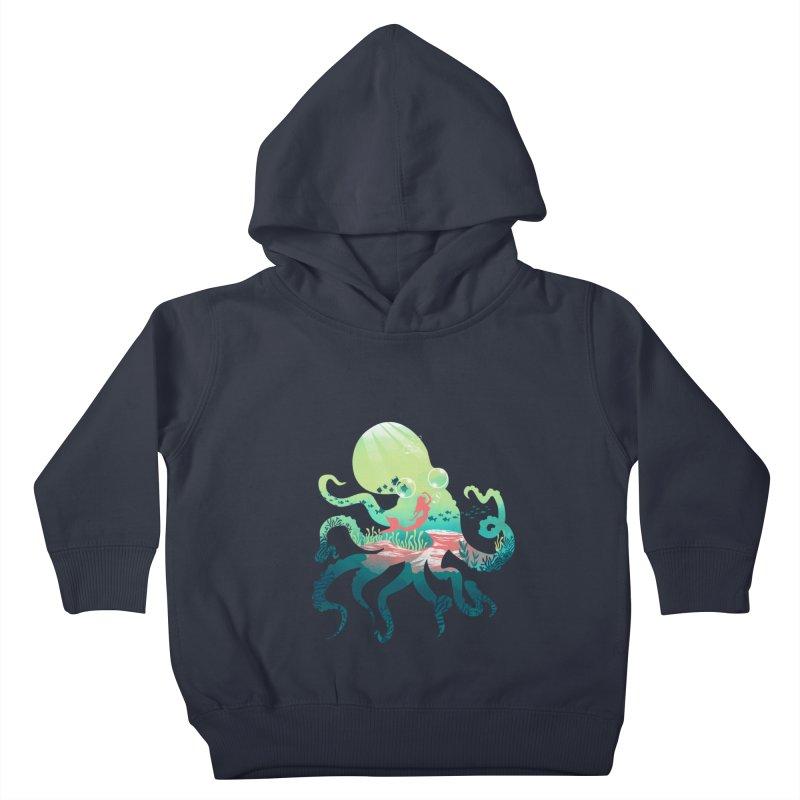 Wonder Sea Kids Toddler Pullover Hoody by dandingeroz's Artist Shop