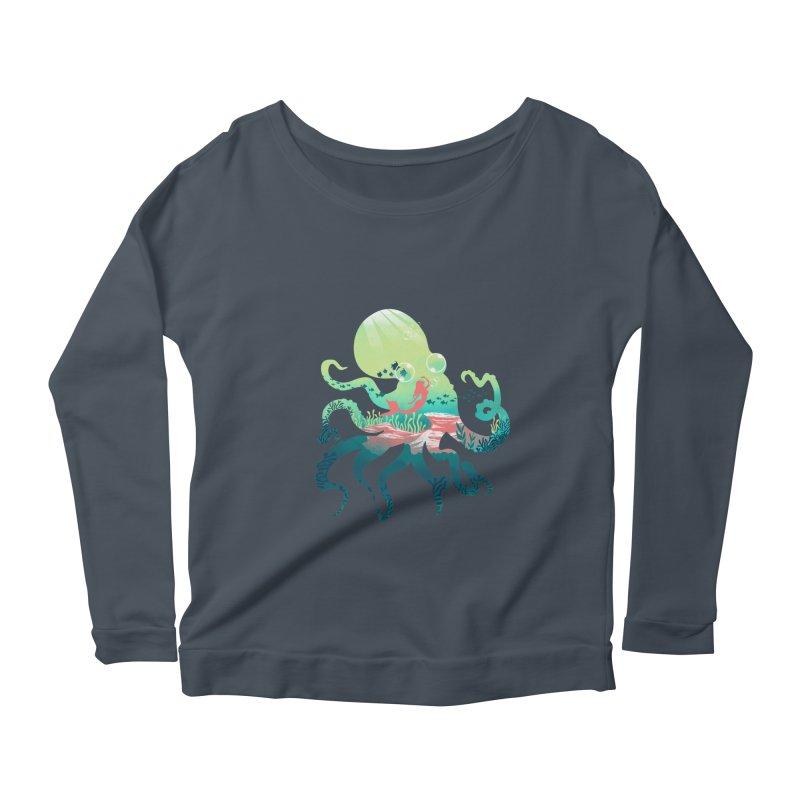 Wonder Sea Women's Scoop Neck Longsleeve T-Shirt by dandingeroz's Artist Shop