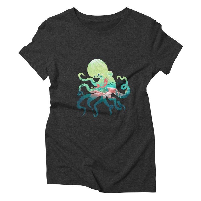Wonder Sea Women's Triblend T-Shirt by dandingeroz's Artist Shop