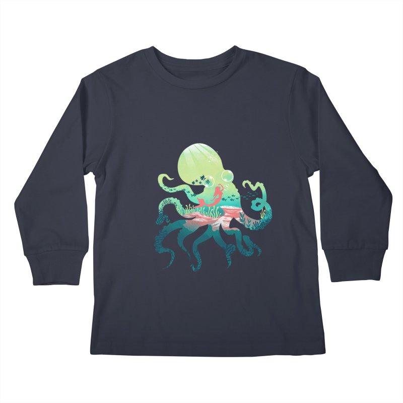 Wonder Sea Kids Longsleeve T-Shirt by dandingeroz's Artist Shop
