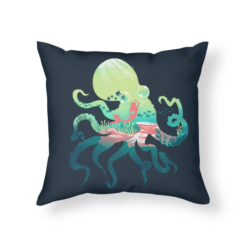 Wonder Sea Home Throw Pillow by dandingeroz's Artist Shop