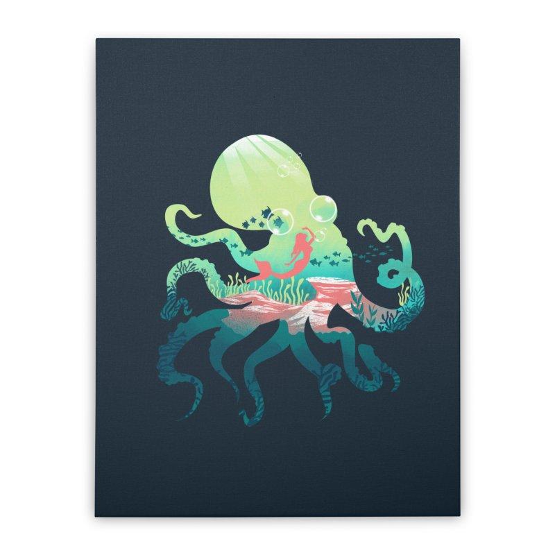 Wonder Sea Home Stretched Canvas by dandingeroz's Artist Shop