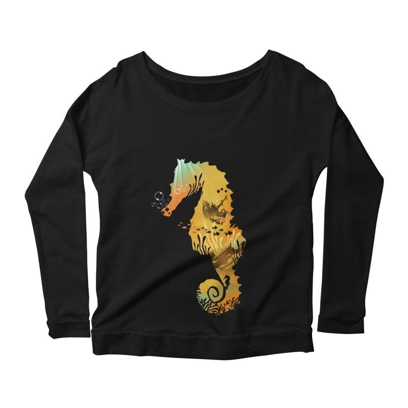 Golden Treasure Women's Scoop Neck Longsleeve T-Shirt by dandingeroz's Artist Shop