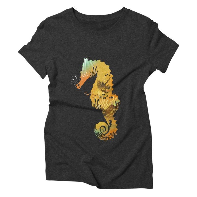 Golden Treasure Women's Triblend T-Shirt by dandingeroz's Artist Shop