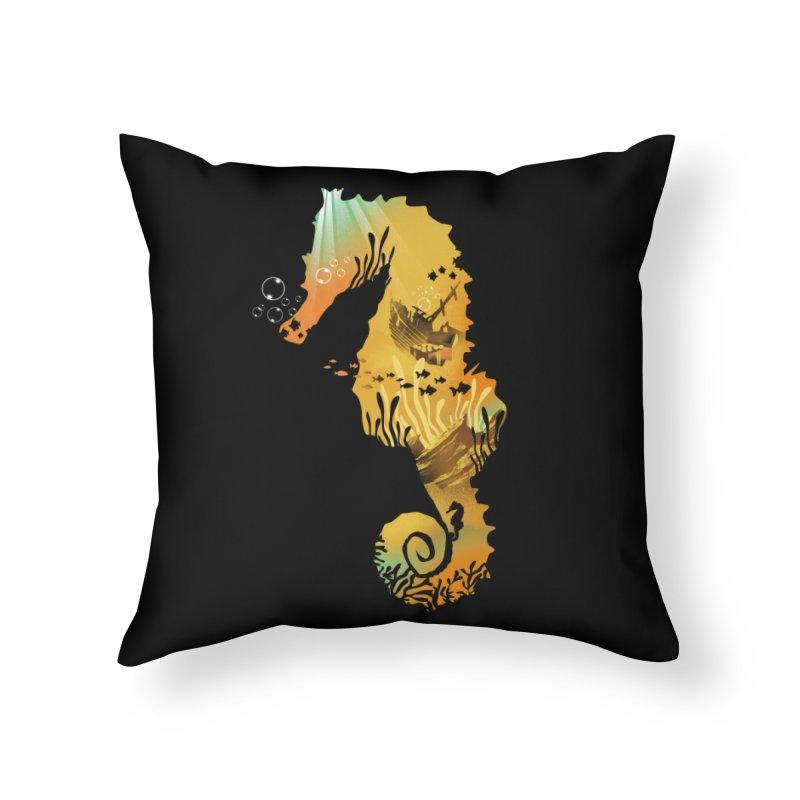 Golden Treasure Home Throw Pillow by dandingeroz's Artist Shop