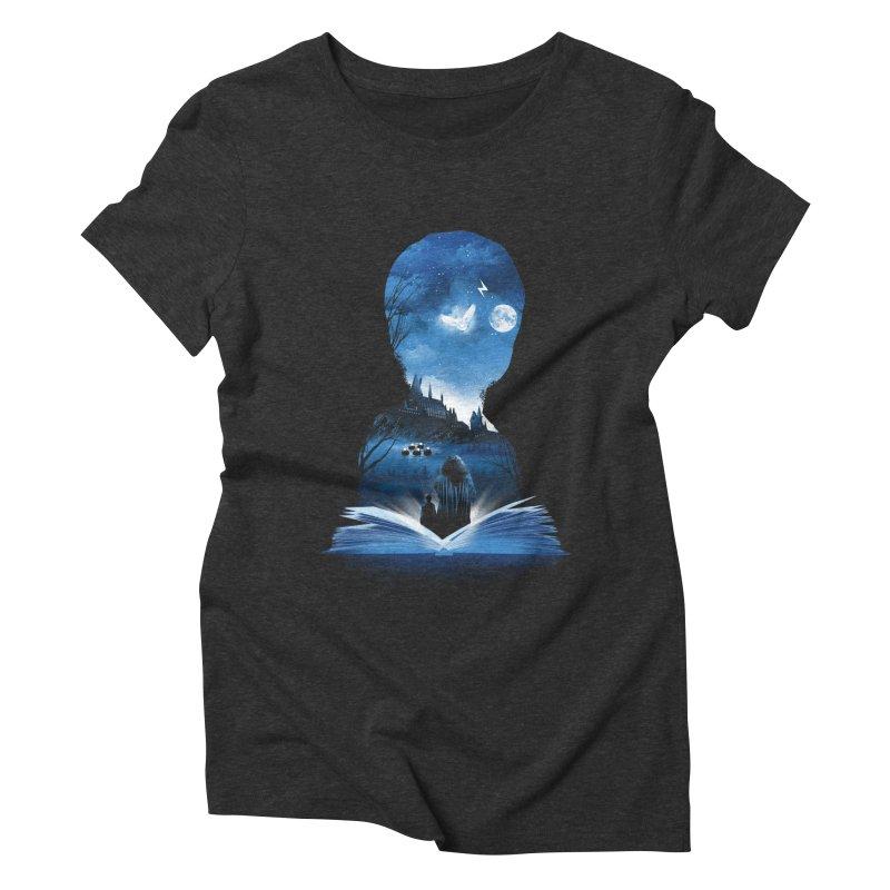 The 1st Book of Magic Women's Triblend T-Shirt by dandingeroz's Artist Shop