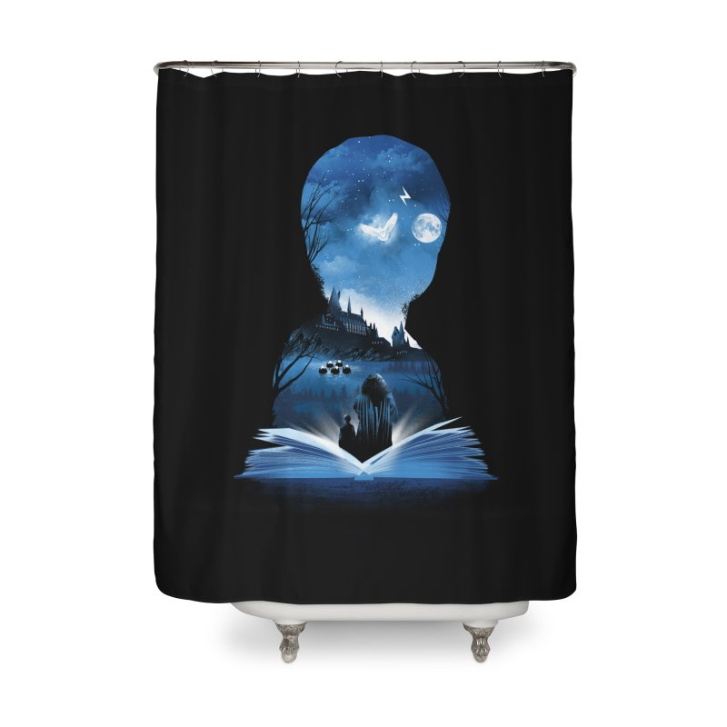The 1st Book of Magic Home Shower Curtain by dandingeroz's Artist Shop