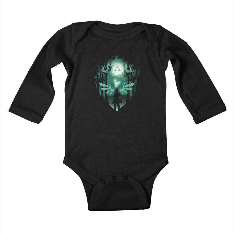 The Hero Crest Kids Baby Longsleeve Bodysuit by dandingeroz's Artist Shop