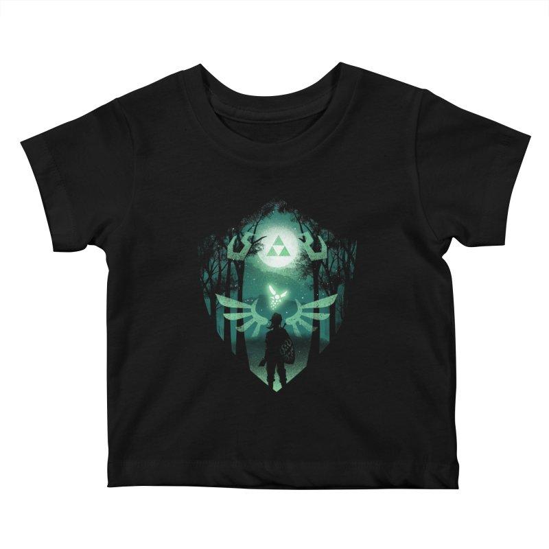The Hero Crest Kids Baby T-Shirt by dandingeroz's Artist Shop